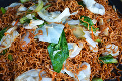 Dried instant noodles fry Royalty Free Stock Photography