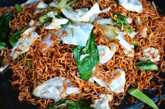 Dried instant noodles fry Royalty Free Stock Image