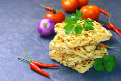 Dried instant noodles Royalty Free Stock Photography