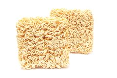 Dried Instant noodles Stock Photo