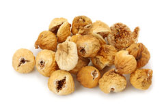 Dried iranian figs. Isolated on white background Stock Image