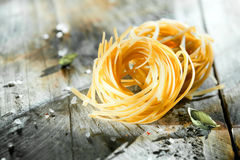 Dried Italian linguine pasta Stock Photos