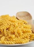 Dried italian pasta   on white b Stock Photos