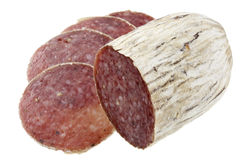 Dried Italian salami Royalty Free Stock Image