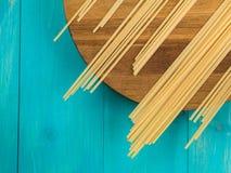 Dried Italian Style Linguini Pasta Royalty Free Stock Photos