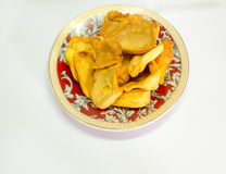 Dried jack fruit chips in small plate Stock Photo