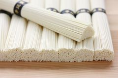 Dried japanese somen noodles Royalty Free Stock Images