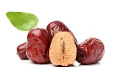 Free Dried Jujube Fruits And Leaves Royalty Free Stock Photos - 126828048