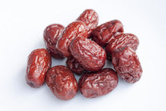 Dried jujube fruits, Chinese dates. Which naturally turn red upon drying Stock Photos