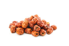 Dried jujube fruits on white background Royalty Free Stock Image