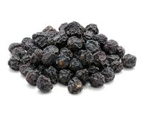 Dried Juniper Berries Isolated on White Background Stock Photography