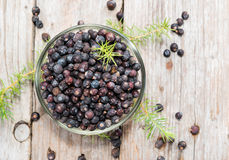 Dried Juniper Berries Stock Photo