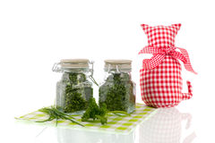 Dried kitchen herbs Stock Image