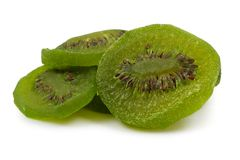 Dried kiwi fruit slices Stock Photography