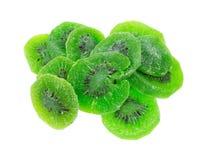 Dried Kiwi Fruit On White Background Stock Image
