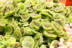 Dried Kiwi Slices Stock Images