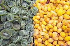 Dried kiwis and kumquats Stock Photography