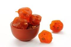 Dried kumquat isolated Stock Photos