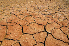 Dried lake in the Namib desert Stock Photos