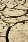 Dried lakebed. A polluted lake bed drying out Stock Photos
