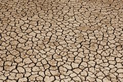 Dried Land Suffering from Drought. Part of a Huge Section of Dried Land Suffering from Drought royalty free stock photos