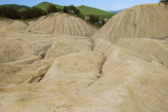 Dried landscape. Image of muddy volcanoes in Berca, Romania Royalty Free Stock Photo