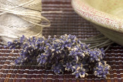 Dried lavender bunch. Countryside aromatherapy. herbalism Stock Photo