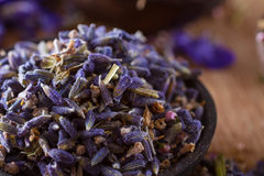 Dried lavender. The wonderful smell of dried lavender: for aromatherapy, decoration, wellness, spa Stock Photo