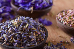 Dried lavender. The wonderful smell of dried lavender: for aromatherapy, decoration, wellness, spa Royalty Free Stock Photography