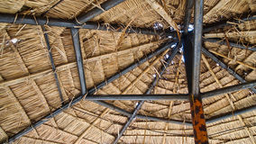 Dried leave shelter. In the north of Thailand Stock Images