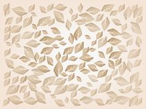 Dried Leaves Laying on A Brown Background Stock Images