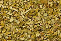 Dried leaves of mate tea Royalty Free Stock Photos