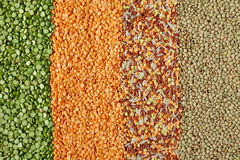 Dried Legumes In Vertical Layers Royalty Free Stock Images