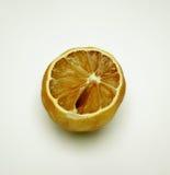 Dried lemon. A dried lemon on a light background Stock Image