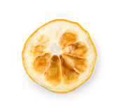 Dried lemon slice isolated on white Royalty Free Stock Image