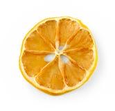Dried lemon slice isolated on white Stock Photo