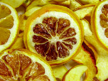 Dried lemon slices background Stock Images
