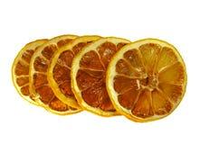Dried lemon slices isolated Stock Photos