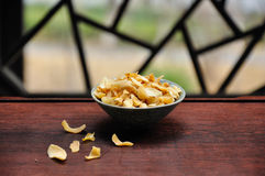 Dried lily in bowl Royalty Free Stock Images