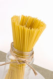 Dried Linguine Pasta in a Glass Jar Royalty Free Stock Photography
