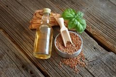 Dried linseed with macerated oil Stock Photography