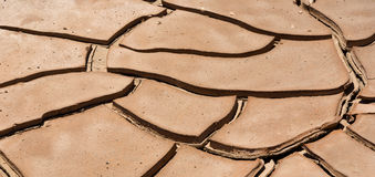 Dried loam in the desert Stock Photos