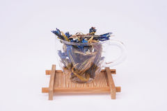 Dried Lotus Flowers In Tea Cup Stock Image