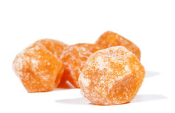Dried mandarine  on white Royalty Free Stock Image