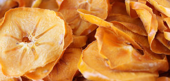 Dried mango. Dried slices of mango in shop or mango chips Royalty Free Stock Photo