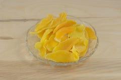 Dried mango slices Stock Photos