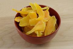Dried mango slices Stock Photography