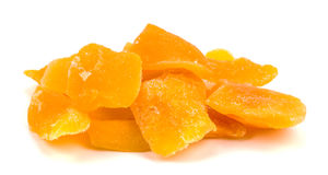 Dried mango slices on a white Royalty Free Stock Photo