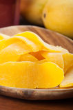 Dried mangoes from fresh mangoes Stock Images