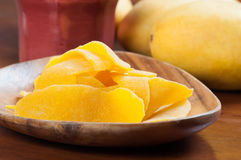 Dried mangoes from fresh mangoes Royalty Free Stock Photos